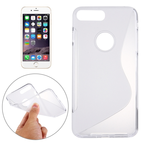 Buy For iPhone 8 Plus & 7 Plus S-Shaped Soft TPU Protective Cover Case, Transparent for $1.19 in SUNSKY store