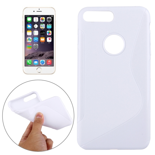 Buy For iPhone 8 Plus & 7 Plus S-Shaped Soft TPU Protective Cover Case, White for $1.19 in SUNSKY store