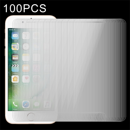 100 PCS for iPhone 8 Plus & iPhone 7 Plus 0.26mm 9H Surface Hardness 2.5D Explosion-proof Tempered Glass Non-full Screen Film