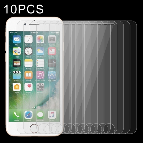 10 PCS for iPhone 8 Plus & iPhone 7 Plus 0.26mm 9H Surface Hardness 2.5D Explosion-proof Tempered Glass Non-full Screen Film