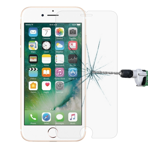For iPhone 8 Plus & iPhone 7 Plus 0.26mm 9H Surface Hardness 2.5D Explosion-proof Tempered Glass Non-full Screen Film