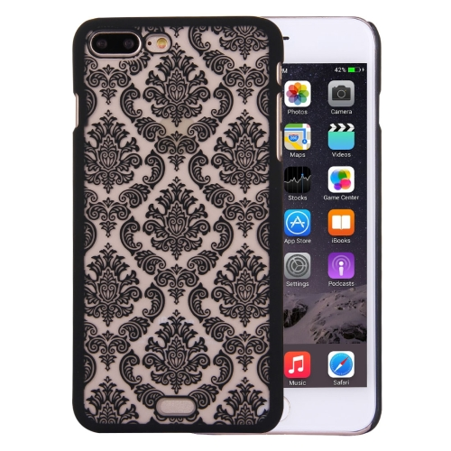 Buy For iPhone 8 Plus & 7 Plus Embossed Flowers Pattern Plastic Protective Case, Black for $1.28 in SUNSKY store