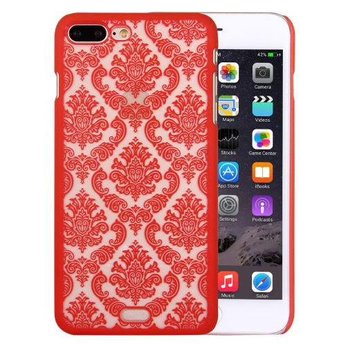 Buy For iPhone 8 Plus & 7 Plus Embossed Flowers Pattern Plastic Protective Case, Red for $1.28 in SUNSKY store