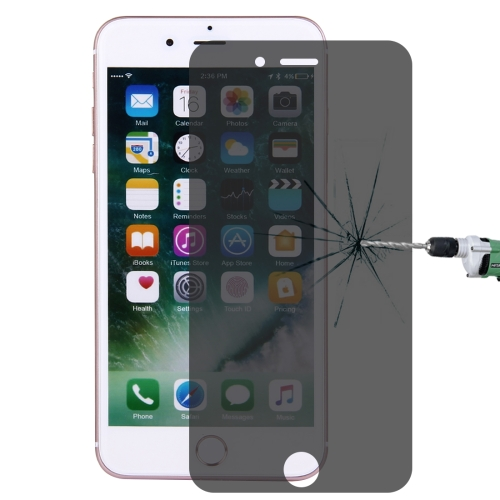 For iPhone 7 Plus/8 Plus Privacy Anti-glare Screen Protector 0.26mm 9H Surface Hardness 2.5D Explosion-proof Tempered Glass Screen Film
