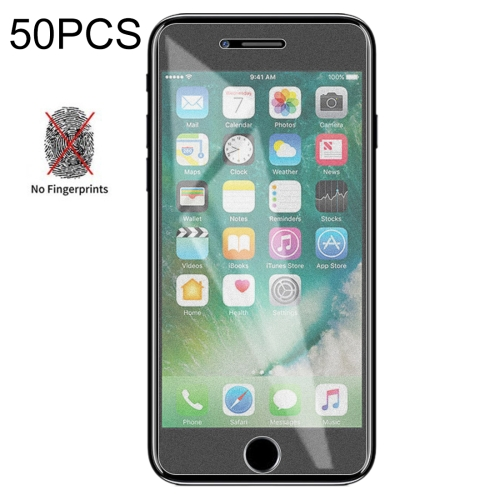 50 PCS Non-Full Matte Frosted Tempered Glass Film for iPhone 7 Plus / 8 Plus