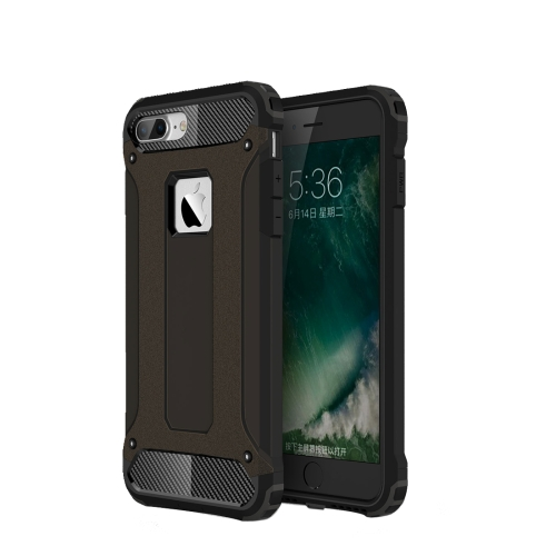 For iPhone 8 Plus & 7 Plus   Tough Armor TPU + PC Combination Case(Black)