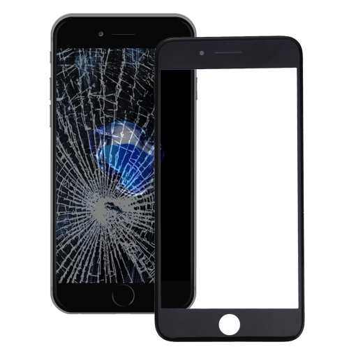 2 in 1 for iPhone 7 Plus (Original Front Screen Outer Glass Lens + Original Frame)(Black)