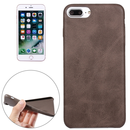 Buy For iPhone 8 Plus & 7 Plus Crazy Horse Texture Leather Surface Soft TPU Protective Back Case, Brown for $1.85 in SUNSKY store