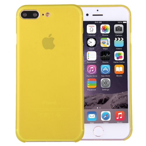For iPhone 8 Plus & 7 Plus   Ultrathin Superlight Transparent PP Protective Case(Yellow)
