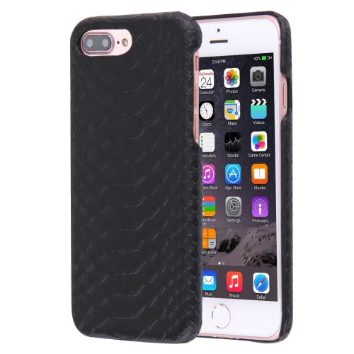 Buy For iPhone 8 Plus & 7 Plus Snakeskin Texture Paste Skin PC Protective Case, Black for $1.49 in SUNSKY store