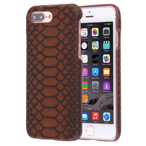 Buy For iPhone 8 Plus & 7 Plus Snakeskin Texture Paste Skin PC Protective Case, Coffee for $1.49 in SUNSKY store