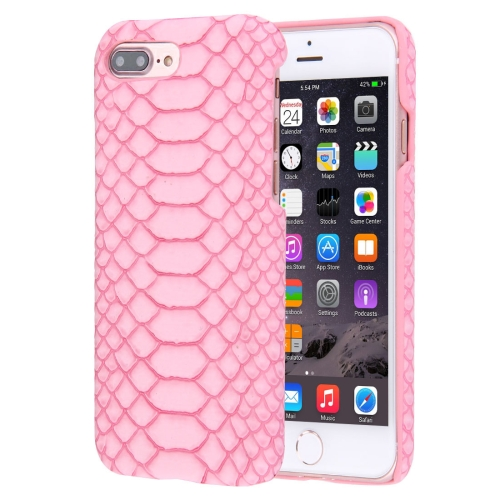 Buy For iPhone 8 Plus & 7 Plus Snakeskin Texture Paste Skin PC Protective Case, Pink for $1.49 in SUNSKY store