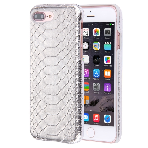 Buy For iPhone 8 Plus & 7 Plus Snakeskin Texture Paste Skin PC Protective Case, Silver for $1.49 in SUNSKY store
