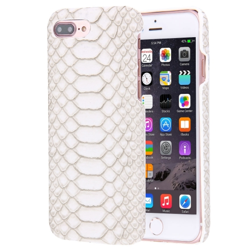 Buy For iPhone 8 Plus & 7 Plus Snakeskin Texture Paste Skin PC Protective Case, White for $1.49 in SUNSKY store