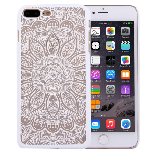 Buy For iPhone 8 Plus & 7 Plus Embossed Lotus Pattern Plastic Protective Back Cover Case, White for $1.28 in SUNSKY store