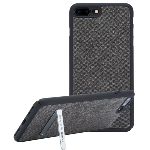 Buy Benks for iPhone 8 Plus & 7 Plus Business Style Magnetic PC Denim Protective Case Back Cover with Holder, Black for $7.05 in SUNSKY store