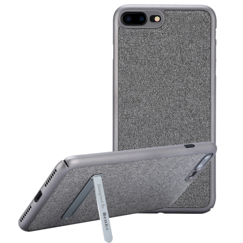 Buy Benks for iPhone 8 Plus & 7 Plus Business Style Magnetic PC Denim Protective Case Back Cover with Holder, Silver for $7.05 in SUNSKY store