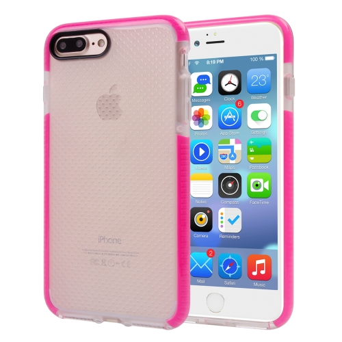 Buy For iPhone 8 Plus & 7 Plus Basketball Texture Transparent TPU Protective Case, Magenta for $2.55 in SUNSKY store