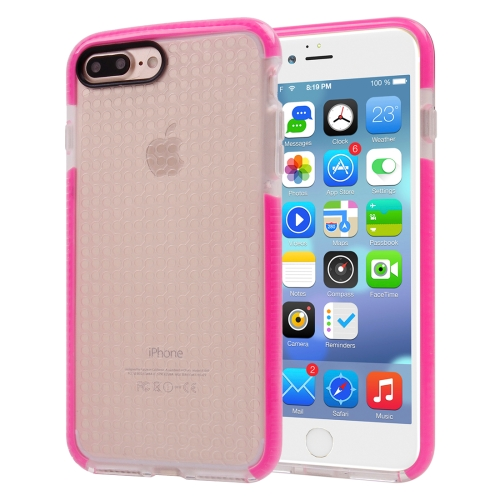 Buy For iPhone 8 Plus & 7 Plus Dumbbell Texture Transparent TPU Protective Case, Magenta for $2.55 in SUNSKY store