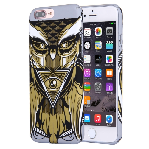 Buy For iPhone 8 Plus & 7 Plus Water Decals Cartoon Animal Owl Pattern PC Protective Case for $2.76 in SUNSKY store
