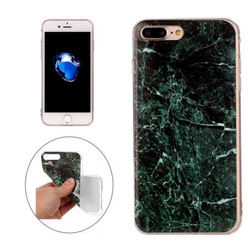 Buy For iPhone 8 Plus & 7 Plus Dark Green Marble Pattern Soft TPU Protective Case for $1.17 in SUNSKY store