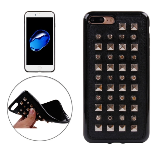 Buy For iPhone 8 Plus & 7 Plus Cylinder Quartet Nail Rivet Style Pattern TPU + Metal Soft Protective Back Cover Case for $3.72 in SUNSKY store