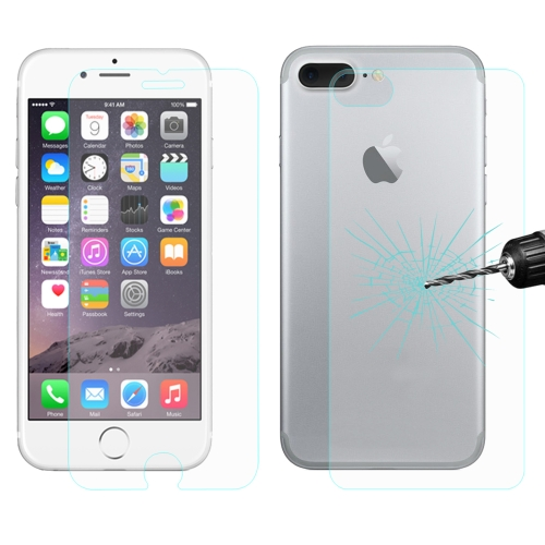 ENKAY for iPhone 8 Plus & iPhone 7 Plus Hat-Prince 0.26mm 9H+ Surface Hardness 2.5D Explosion-proof Tempered Glass Front + Back Film