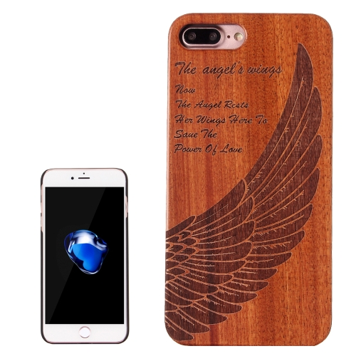 Buy For iPhone 8 Plus & 7 Plus Wings Pattern Carving Rosewood Wooden Protective Back Cover Case for $5.86 in SUNSKY store