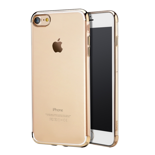Buy Baseus for iPhone 8 & 7 Electroplating Soft Transparent TPU Protective Back Cover Case, Gold for $3.45 in SUNSKY store