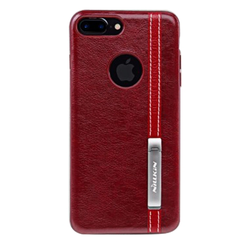 Buy NILLKIN Phenom Case for iPhone 7 Plus Business Style Leather Surface PC Protective Case Back Cover with Soft TPU Frame & Magnetic Metal Holder, Red for $5.66 in SUNSKY store