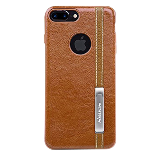 Buy NILLKIN Phenom Case for iPhone 7 Plus Business Style Leather Surface PC Protective Case Back Cover with Soft TPU Frame & Magnetic Metal Holder, Brown for $5.66 in SUNSKY store
