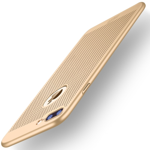 Buy MOFi for for iPhone 7 Plus Honeycomb Texture Breathable PC Shockproof Protective Back Cover Case, Gold for $2.67 in SUNSKY store