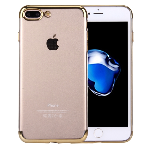 Buy For iPhone 8 Plus & 7 Plus Electroplating Soft TPU Protective Cover Case, Gold for $1.16 in SUNSKY store