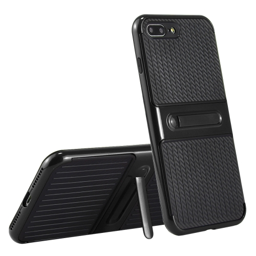 Buy For iPhone 8 Plus & 7 Plus Trunk Shape TPU+ABS Oil Spout Craft Combination Protective Case with Holder, Black for $2.29 in SUNSKY store