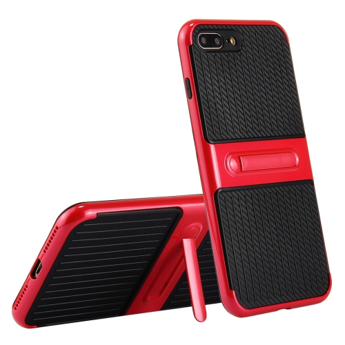 Buy For iPhone 8 Plus & 7 Plus Trunk Shape TPU+ABS Oil Spout Craft Combination Protective Case with Holder, Red for $2.02 in SUNSKY store