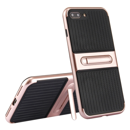 Buy For iPhone 8 Plus & 7 Plus Trunk Shape TPU+ABS Oil Spout Craft Combination Protective Case with Holder (Rose Gold) for $2.02 in SUNSKY store
