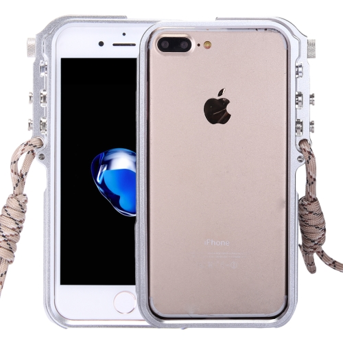 Buy For iPhone 8 Plus & 7 Plus 4th Design Trigger Aluminum Metallic Bumper Frame, Silver for $7.29 in SUNSKY store