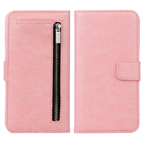 Buy For iPhone 8 Plus & 7 Plus Separable Crazy Horse Texture Zipper Wallet Style Flip Leather Case, Pink for $4.69 in SUNSKY store