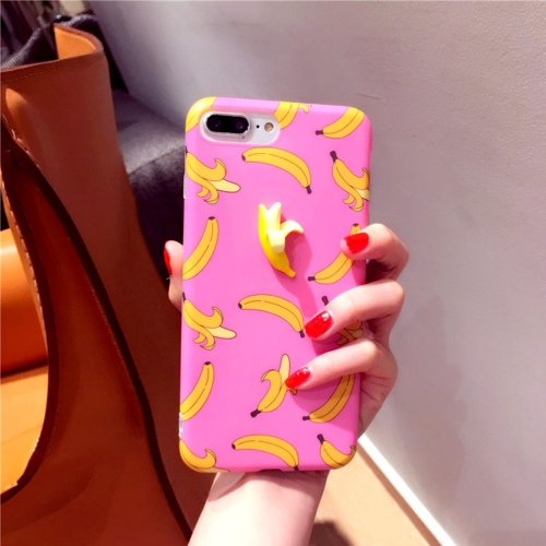 Buy For iPhone 8 Plus & 7 Plus Summer fruit 3D Banana Pattern TPU Protective Case, Pink for $2.90 in SUNSKY store