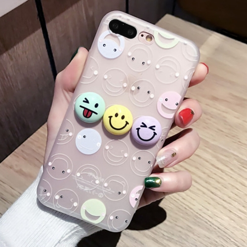 Buy For iPhone 8 Plus & 7 Plus 3D Smiling Face Expression Silicone Protective Cover Case with USB & Earphone Port Anti-Dust Plug for $2.68 in SUNSKY store
