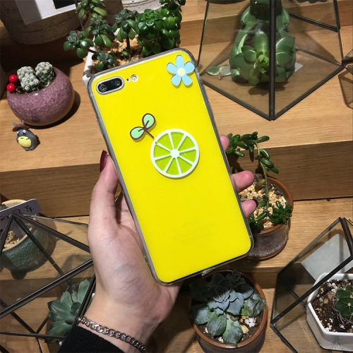 Buy For iPhone 8 Plus & 7 Plus Lemon Pattern Full Coverage Shockproof Protective Back Cover Case for $2.90 in SUNSKY store