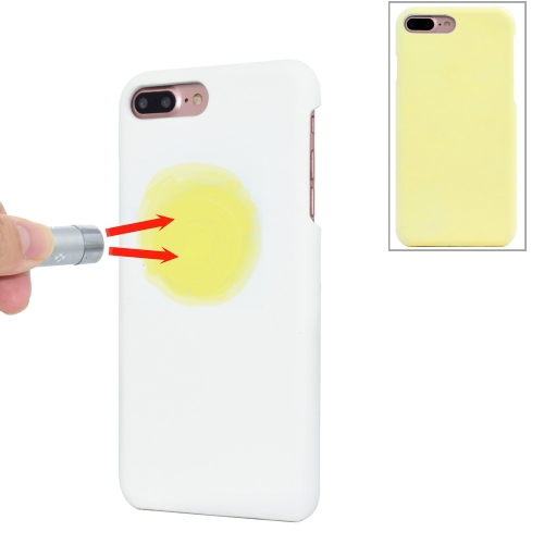 Buy For iPhone 8 Plus & 7 Plus Light Sensation Change Color Protective Case Back Cover, Yellow for $2.56 in SUNSKY store