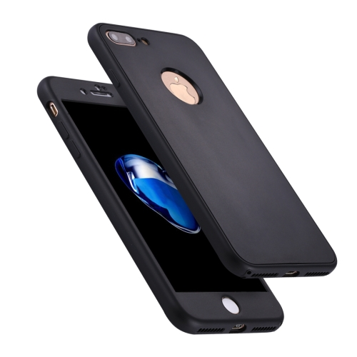 Buy For iPhone 8 Plus & 7 Plus Stylish Lightweight 360 Degree Shockproof Detachable TPU + PC Combination Protective Case, Black for $2.02 in SUNSKY store