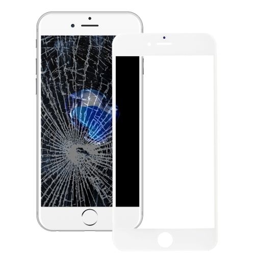 Front Screen Outer Glass Lens with Front LCD Screen Bezel Frame & OCA Optically Clear Adhesive for iPhone 7 Plus(White)