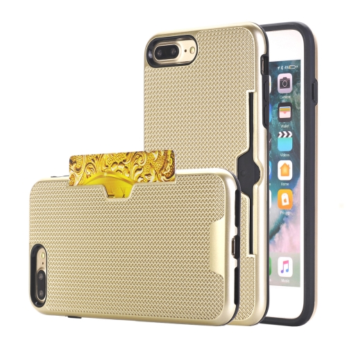 Buy For iPhone 8 Plus & 7 Plus Dream Network Dropproof Protective Back Cover Case with Card Slots, Gold for $2.17 in SUNSKY store