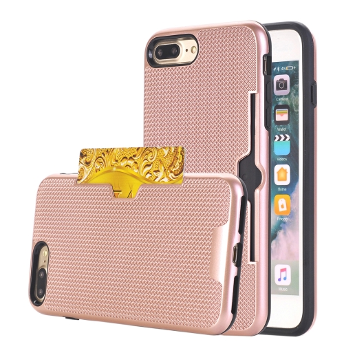 Buy For iPhone 8 Plus & 7 Plus Dream Network Dropproof Protective Back Cover Case with Card Slots (Rose Gold) for $2.17 in SUNSKY store