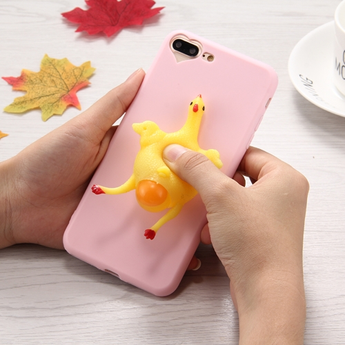 Buy For iPhone 8 Plus & 7 Plus 3D Chicken Pattern Squeeze Relief Squishy Dropproof Protective Back Cover Case for $1.40 in SUNSKY store