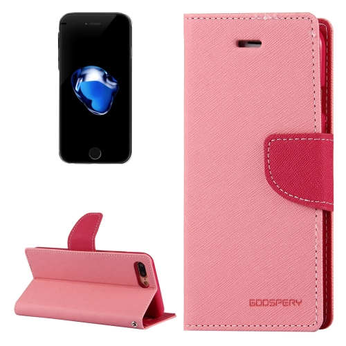 Buy MERCURY GOOSPERY FANCY DIARY for iPhone 8 Plus & 7 Plus Cross Texture Horizontal Flip Leather Case with Card Slots & Wallet & Holder, Pink for $3.77 in SUNSKY store