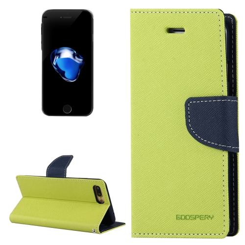 Buy MERCURY GOOSPERY FANCY DIARY for iPhone 8 Plus & 7 Plus Cross Texture Horizontal Flip Leather Case with Card Slots & Wallet & Holder, Green for $3.95 in SUNSKY store