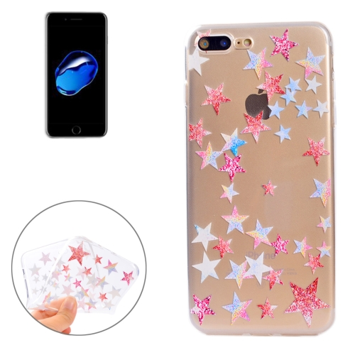 Buy For iPhone 8 Plus & 7 Plus Colorful Stars Pattern Soft TPU Protective Case for $1.13 in SUNSKY store
